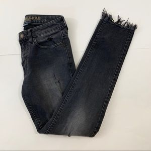 American Eagle Skinny Black Distressed Jeans 28